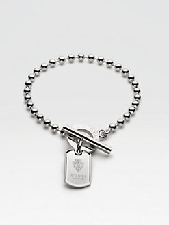 Gucci - Sterling Silver Dog Tag Bracelet