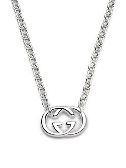 Gucci - Sterling Silver Double G Necklace