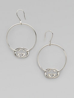 Gucci - Sterling Silver Britt Hoop Earrings