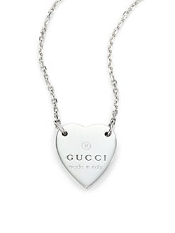 Gucci - Sterling Silver Heart Pendant Necklace