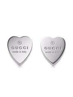 Gucci - Sterling Silver Heart Earrings