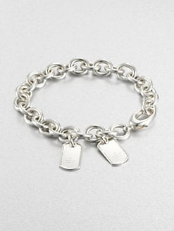 Gucci - Double Tag Sterling Silver Bracelet