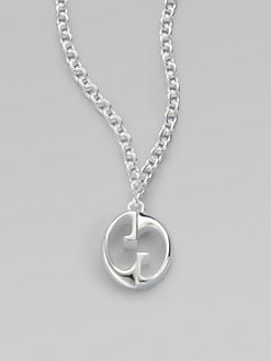 Gucci - Sterling Silver 1973 GG Pendant Necklace
