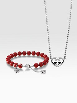 Gucci - Love Britt Necklace & Beaded Bracelet Set