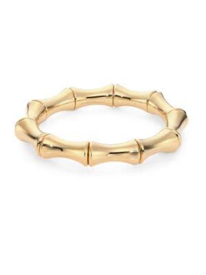 Bamboo 18K Yellow Gold Bangle Bracelet