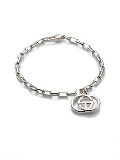 Gucci - Sterling Silver Double G Single Charm Bracelet