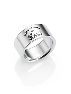 Gucci - Sterling Silver Signature Ring