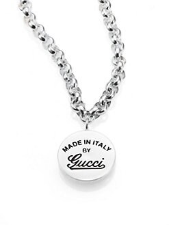 Gucci - Sterling Silver Signature Necklace