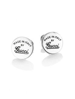 Gucci - Sterling Silver Signature Stud Earrings
