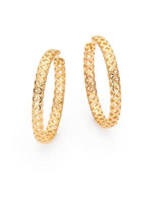 gucci female 220183 diamantissima 18k yellow gold hoop earrings15