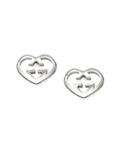 Gucci - GG Heart Stud Earrings