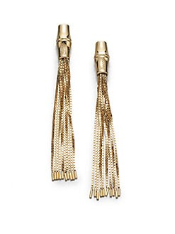 Gucci - 18K Gold Tassel Drop Earrings