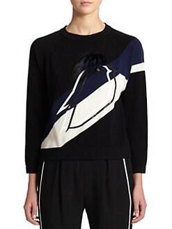 Fendi - Cashmere & Fur Bird Pullover