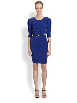 Fendi - Belted Silk Dress