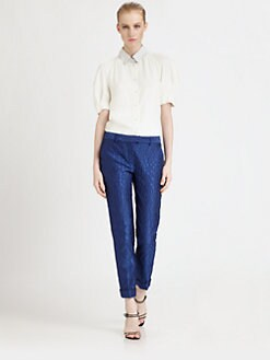 Fendi - Contrast Collar Blouse