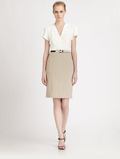 Fendi - Belted Bi-Color Dress