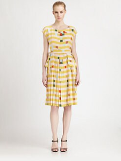 Fendi - Silk Lego Print Dress