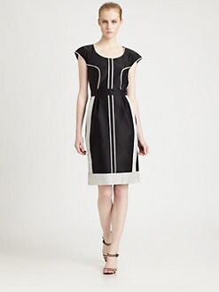Fendi - Grid Piping Dress