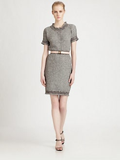 Fendi - Belted Knit Dress