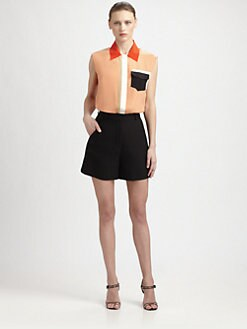 Fendi - Silk Colorblock Blouse