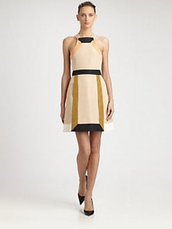 Fendi - Colorblock Taffeta Dress