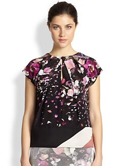 Fendi - Silk Flower Explosion Top
