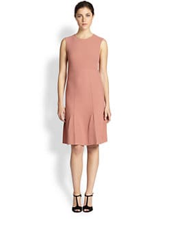 Fendi - Rose Knit Flounce Dress