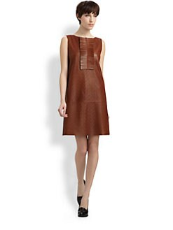 Fendi - Perforated Leather Dress