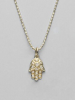 Sydney Evan - Diamond & 14K Yellow Gold Hamsa Necklace