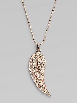 Sydney Evan - Diamond & 14K Rose Gold Wing Necklace