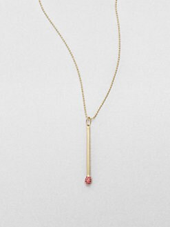 Sydney Evan - 14K Gold Match Pendant Necklace