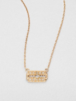 Sydney Evan - 14K Rose Gold Razor Pendant Necklace