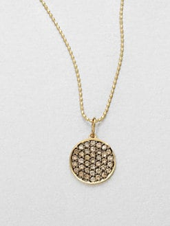 Sydney Evan - Diamond & 14K Gold Disc Pendant Necklace