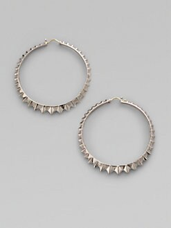 Stephen Webster - Sterling Silver Zigzag Hoop Earrings/2&frac12