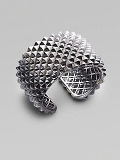 Stephen Webster - Blackened Sterling Silver Textured Bracelet