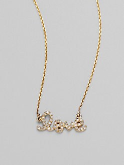 Sydney Evan - Diamond & 14K Yellow Gold Necklace/Love