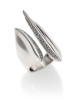 Alexis Bittar Fine - Brown Diamond & Sterling Silver Sculptural Cleaved Ring
