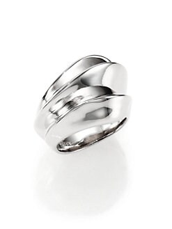 Alexis Bittar Fine - Blueberry Marquis Sterling Silver Ridged Ring