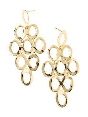 Classico 18K Yellow Gold Open Cascade Earrings