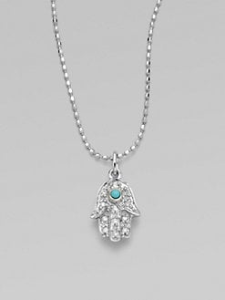 Sydney Evan - Diamond & 14K White Gold Hamsa Necklace