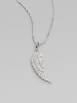 Sydney Evan - Diamond & 14K White Gold Wing Necklace