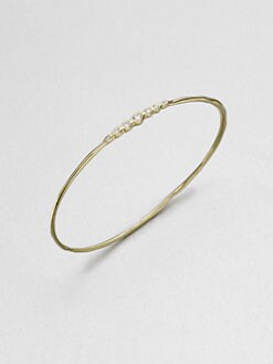 IPPOLITA - 18K Gold Diamond Bangle Bracelet