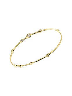 IPPOLITA - Multi Diamond 18K Gold Bangle Bracelet