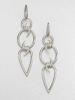 Stephen Webster - Diamond & Sterling Silver Barb Triple Drop Earrings