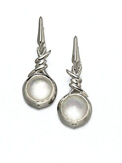 Stephen Webster - Mother-of-Pearl, Clear Quartz and Sterling Silver Earrings