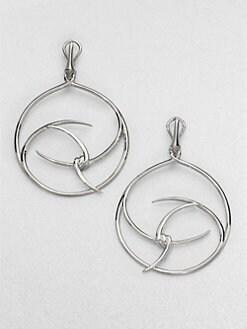Stephen Webster - Sterling Silver Barb Hoop Drop Earrings