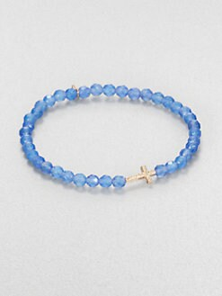 Sydney Evan - Blue Onyx Beaded Stretch Bracelet