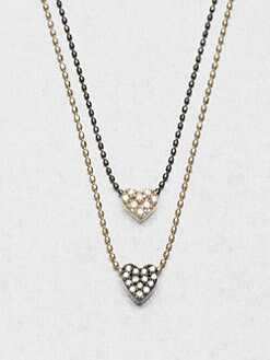 Sydney Evan - Double Heart Charm Necklace