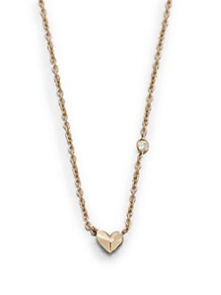 Sydney Evan - 14K Rose Gold Mini Heart Pendant Necklace
