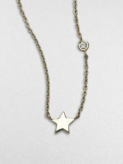 Sydney Evan - Mini Star 14K Gold Necklace